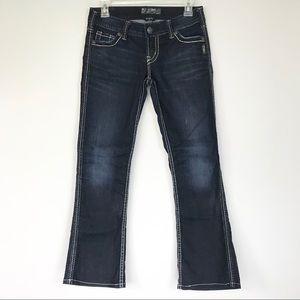 Silver Jeans Co Stretchy Dark White Stitch Sz 26